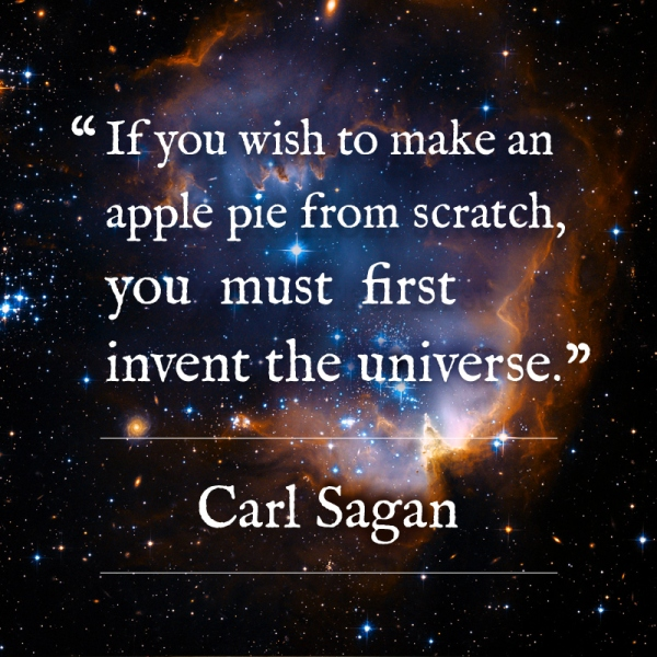 Design challenge, day 5, Carl Sagan's ultimate pie