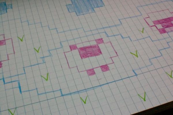 Knitting chart illustration