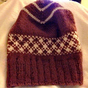 Quadratic Cap knit by Mandy Bee
