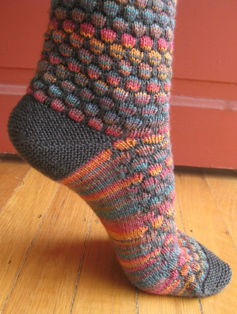 Sunnydayknitter's Stained Glass Bubble Socks