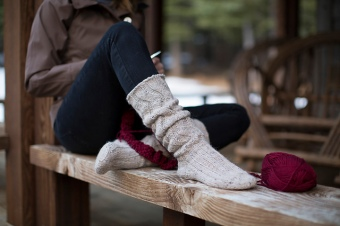 Slouchy Socks by Gwen Bortner
