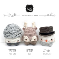lalylala's Whimsical Winter Amigurumi Pattern Set