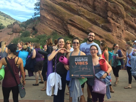 Yoga on the rocks in Colorado